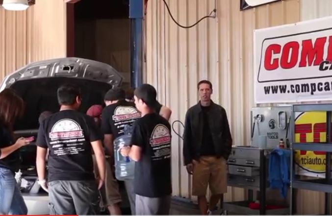 Tuner School Students Install Camshafts